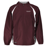 Holloway Hurricane Maroon/White Pullover-St Benedicts Secondary Wordmark