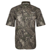 Camo Short Sleeve Performance Fishing Shirt-St Benedicts Secondary Wordmark