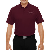 Under Armour Maroon Performance Polo-St Benedicts Secondary Wordmark