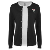 Ladies Black Cardigan-St Benedicts Prep Gray Bees
