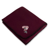 Maroon Arctic Fleece Blanket-St Benedicts Prep Gray Bees
