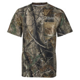 Realtree Camo T Shirt w/Pocket-St Benedicts Secondary Wordmark