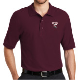 Maroon Easycare Pique Polo-St Benedicts Prep Gray Bees