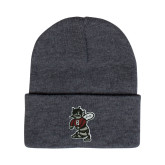 Grey Knit Beanie w/Cuff-Fighting Bee