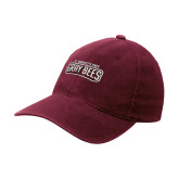 Maroon Flexfit Mid Profile Hat-Gray Bee Logo