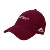 Adidas Maroon Slouch Unstructured Low Profile Hat-St Benedicts Secondary Wordmark