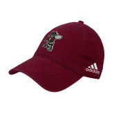 Adidas Maroon Slouch Unstructured Low Profile Hat-Fighting Bee