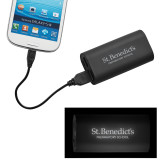 LIGHT UP LOGO Power Bank-St Benedicts Secondary Wordmark Engraved