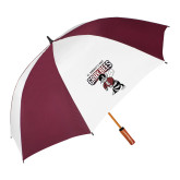 64 Inch Maroon/White Umbrella-St Benedicts Prep Gray Bees
