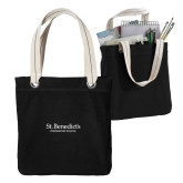 Allie Black Canvas Tote-St Benedicts Secondary Wordmark