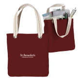 Allie Cardinal Canvas Tote-St Benedicts Secondary Wordmark