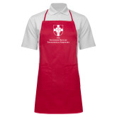 Full Length Red Apron-Primary Mark Vertical