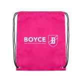 Pink Drawstring Backpack-Boyce Primary Mark