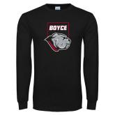 Black Long Sleeve T Shirt-Bulldog Head