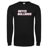 Black Long Sleeve T Shirt-Boyce Bulldogs