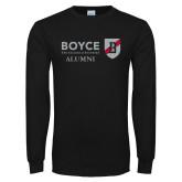 Black Long Sleeve T Shirt-Boyce Alumni