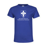 Youth Royal T Shirt-Primary Mark Vertical