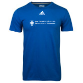 Adidas Climalite Royal Ultimate Performance Tee-Primary Mark