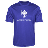 Performance Royal Heather Contender Tee-Primary Mark Vertical