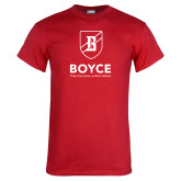 Red T Shirt-Boyce Primary Mark Vertical