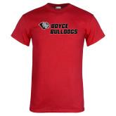 Red T Shirt-Boyce Bulldogs w Bulldog Head