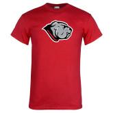 Red T Shirt-Bulldog Head