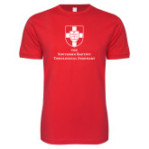 Next Level SoftStyle Red T Shirt-Primary Mark Vertical