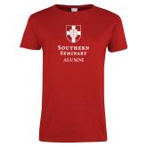 Ladies Red T Shirt-Southern Seminary Alumni