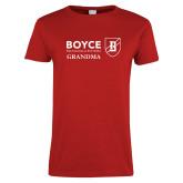 Ladies Red T Shirt-Boyce Grandma