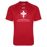 Under Armour Red Tech Tee-Primary Mark Vertical