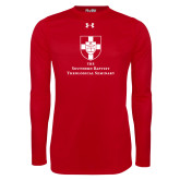 Under Armour Red Long Sleeve Tech Tee-Primary Mark Vertical