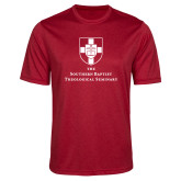 Performance Red Heather Contender Tee-Primary Mark Vertical