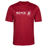 Performance Red Heather Contender Tee-Boyce Primary Mark