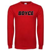 Red Long Sleeve T Shirt-Boyce