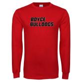 Red Long Sleeve T Shirt-Boyce Bulldogs