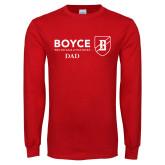 Red Long Sleeve T Shirt-Boyce Dad