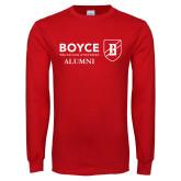 Red Long Sleeve T Shirt-Boyce Alumni