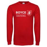 Red Long Sleeve T Shirt-Boyce Grandma