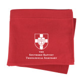 Red Sweatshirt Blanket-Primary Mark Vertical