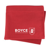 Red Sweatshirt Blanket-Boyce Primary Mark