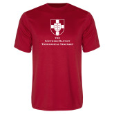 Performance Red Tee-Primary Mark Vertical