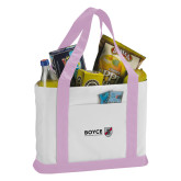 Contender White/Pink Canvas Tote-Boyce Primary Mark