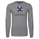 Grey Long Sleeve T Shirt-Primary Mark Vertical