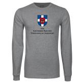 Grey Long Sleeve T Shirt-Primary Mark Vertical
