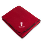 Red Arctic Fleece Blanket-Southern Seminary Vertical