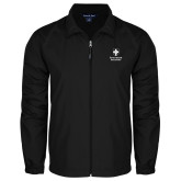 Full Zip Black Wind Jacket-Southern Seminary Vertical