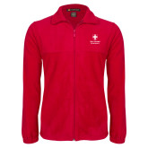 Fleece Full Zip Red Jacket-Southern Seminary Vertical