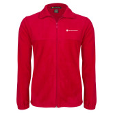 Fleece Full Zip Red Jacket-Southern Seminary Flat