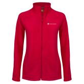 Ladies Fleece Full Zip Red Jacket-Southern Seminary Flat