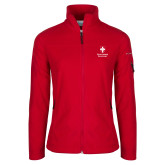 Columbia Ladies Full Zip Red Fleece Jacket-Southern Seminary Vertical